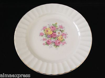 """Edwin Knowles China Semi Vitreous KNO246 246 46 Rose Gold 9-1/4"""" LUNCHEON PLATE"""