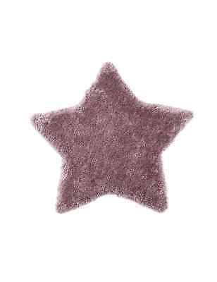 Next Mauve Star Shaped Rug girls bedroom rrp £30