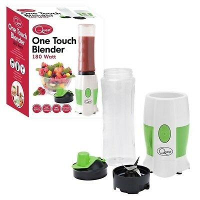 Quest One Touch Personal Blender With 500 Ml Bpa Free Sports Bottle 180 Watt