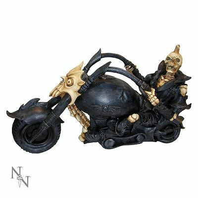 Nemesis Now Hell Rider - Skeleton on Motorbike Figurine - 30cm