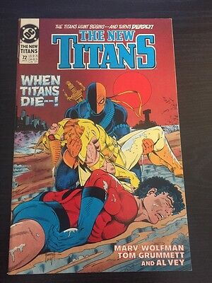 New Teen Titans#72 Incredible Condition 9.2 Grummett Art(1990) Awesome!