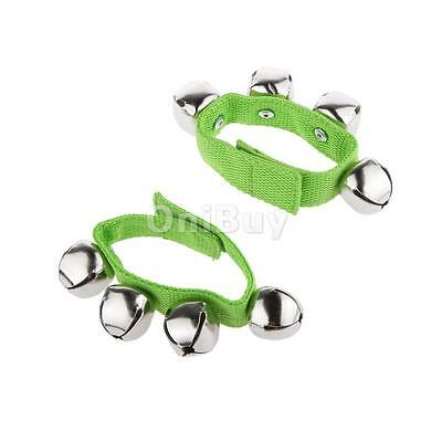 1 paire vert poignet cheville Jingle Bells Bracelet Enfants Early Education