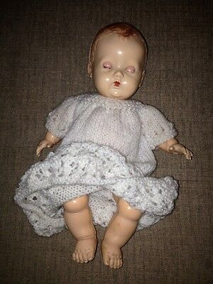 "VINTAGE 1950s 10"" HARD PLASTIC B.N.D. .DOLL IN ORIGINAL DRESS"