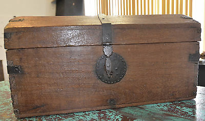 Antique Spanish Colonial Wooden Chest 1770's  Offers Considered