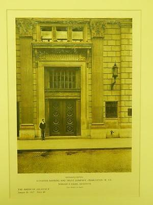 Entrance Detail, Kanawha Banking and Trust, Charleston, WV, 1927, Original Plan