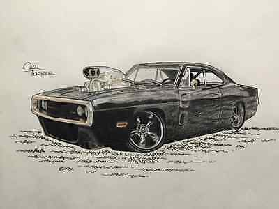 Dom's Dodge Charger The Fast And The Furious A3 Print Poster Koolart Style