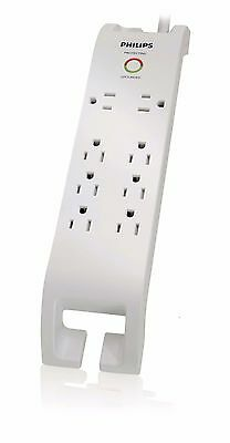 (1) Philips SPP3080D/17 Surge Protector With 8 Outlets, 2160J, 3-Foot Cord