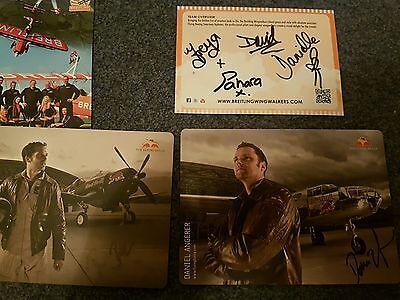 Breitling and red bull air force signed cards