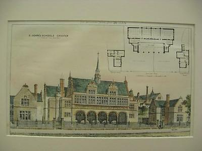 St. John's Schools, Chester, UK, 1883, Original Plan