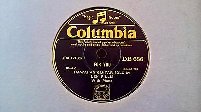 Hawaiian Guitar - Len Fillis - For You (Columbia Db 686) E+