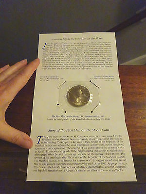first man on the moon 5 dollar coin