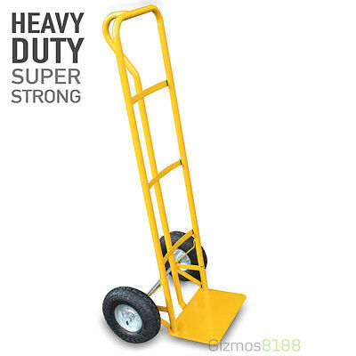 Hand Sack Truck Heavy Duty 600LB 270kg Industrial Inflatable Pneumatic Tyres New