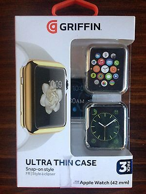 Griffin Ultra Thin Snap-On Case For The Apple Watch 42Mm - 3 Pack  - Gb42093
