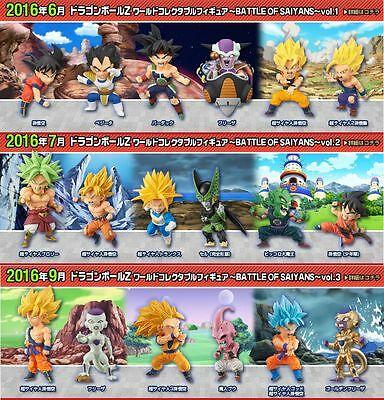 Dragon Ball WCF World Collectable Figure BATTLE OF SAIYANS Vol.1 2 3 Complete
