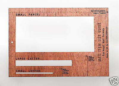 Royal Mail PiP Postal Template Letter Size Charge Guide