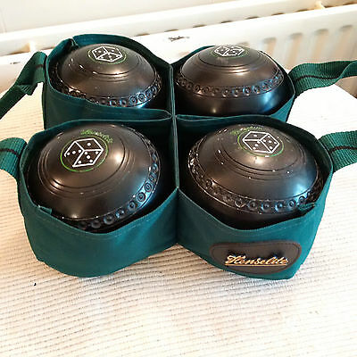 HENSELITE CLASSIC DELUXE SIZE 4 HEAVY BOWLS SET with HOLDALL BAG BOXED