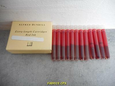 Boite De 12 Cartouches D ' Encre Rouge Extra Length Cartidges Red Alfred Dunhill