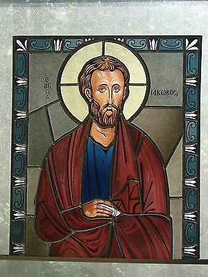Religious stained glass panels/Greek Orthodox Saint-St. James