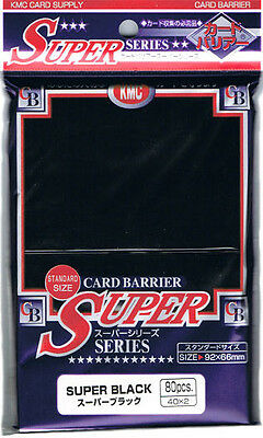 KMC SLEEVE SUPER BLACK (80 SLEEVES/PACK) - STANDARD SIZE ($10/pack at www.the...