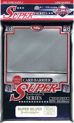 Kmc Sleeve Super Silver (80 Sleeves/pack) - Standard Size