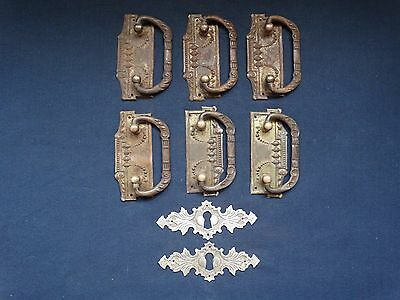 lot vintage Iron furniture handles 6 pcs handles for cabinets