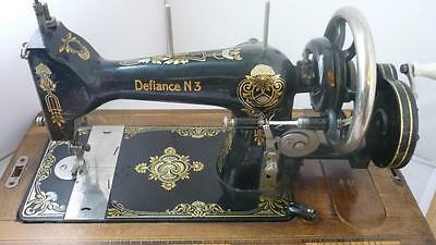 Rare Harris Defiance 3 sewing machine hand crank Lehnmann formerly Baach & Klie