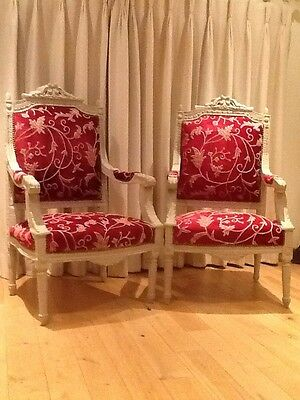 french louis style vintage armchairs
