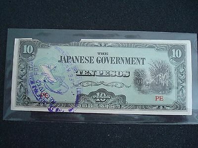 1940s One Peso /Ten Pesos ( 2 Banknotes )The Japanese Government - Paper Money.