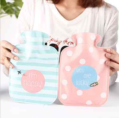 HOT WATER BOTTLE Winter Warm Rubber Bag with Cartoon Cover Relaxing Therapy