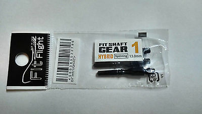 COSMO FIT SHAFTS GEAR #1 BLACK HYBRID SPINNING TYPE 13mm FOR FIT FLIGHTS ONLY