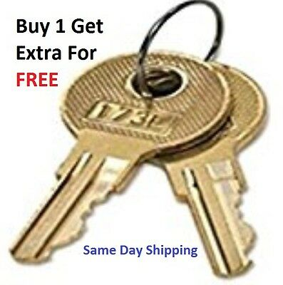 2 Toolbox Replacement Keys Pre-Cut To Your Key Code CH501-CH550 Truck Toolbox