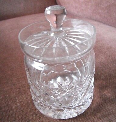 Vintage Crystal sugar jar with Lid