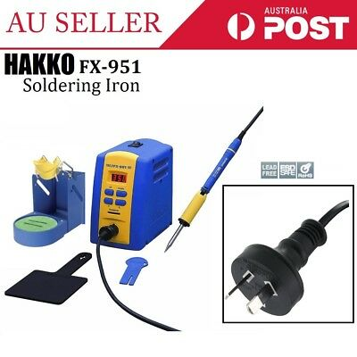 NEW HAKKO FX-951 70W Lead Free Digital Soldering Iron Station Compact High-Power