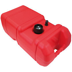 Fuel Tank Plastic (RED) 22.7 Litre Suits Boat Outboard Marine Tinnie Petrol