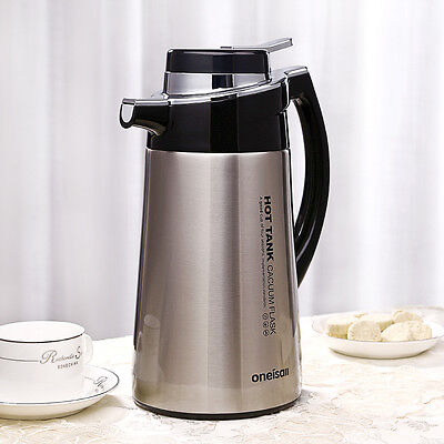 Stainless Steel Thermos Carafe Coffee Carafe Insulated Vacuum Flask Kettle 1.8L