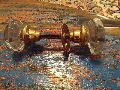 Vintage Clear Glass Door Knob Set