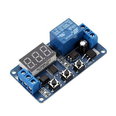 DC12V Multifunction Self-lock Relay Cycle Timer Module Delay Time Switch UK M9B7