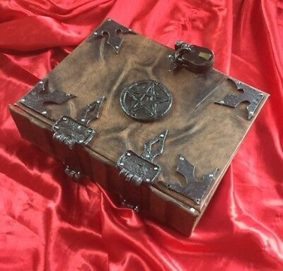 400 REMOVABLE page Leather Pentagram Spellbook Grimoire Book of Shadows Journal