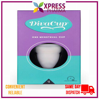The Diva Cup Soft Silicone Menstrual Cup Reusable Leak Free Model 2 NEW STOCK