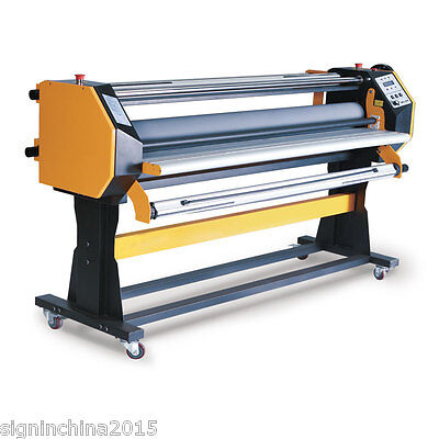 "67"" Stand Frame Full-auto Single Side Wide Format Hot/Cold Laminator with Stand"