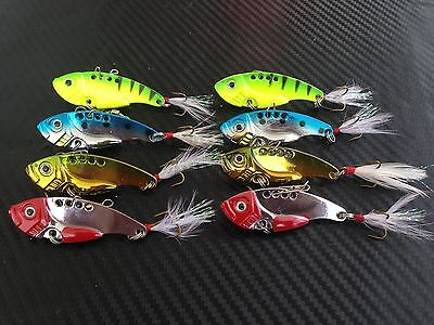 8X PFS Fishing Switchblade Blade VIBE VIB Metal Lures 55mm 12g Bream Bass