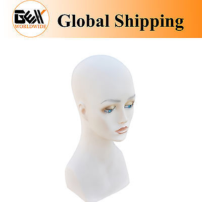"""15"""" PVC Mannequin Manikin Head Bust for Wig Hat Necklace Jewelry Display PJH#"""