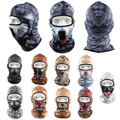 3D Animal Thin Outdoor Cycling Ski Hat Sport Balaclava Motorcycle Full Face Mask
