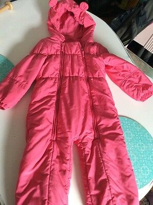 Next Girls Pink All In One Snowsuit Age 4