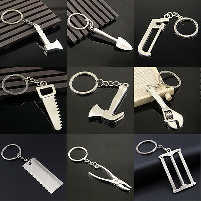 1X Mini Adjustable Metal Creative Tool Wrench Spanner Key Chain Ring Keyring Hot