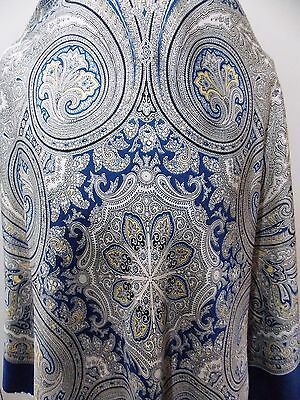 Vintage 1950s 86cm Square Navy Blue Silk Paisley Women's Scarf- Minor Flaws