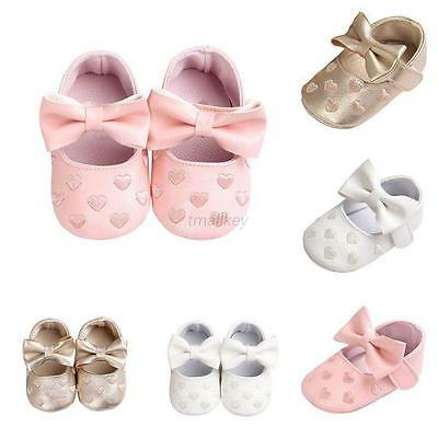 Toddler Baby Shoes Newborn Soft Sole Princess Girl Crib Shoes Prewalker 0-18M