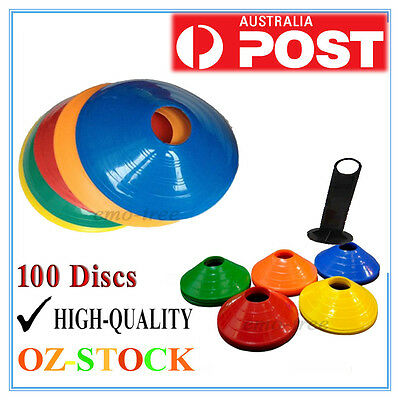 100 Pack Sports Training Discs Markers Cones Soccer Exercise Personal Football