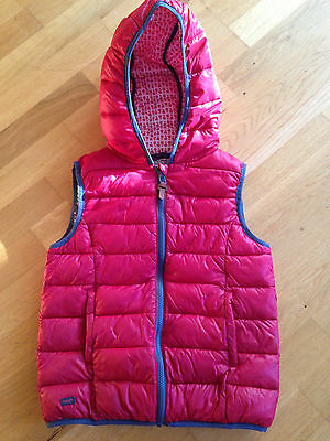 Lovely Girls NEXT Gilet Gillet Bodywarmer coat jacket + hood in red Age 12