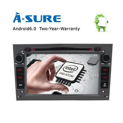 """7"""" Android 6.0 Car DVD Player GPS DAB+ Opel Vauxhall Astra H Corsa Vectra Silver"""